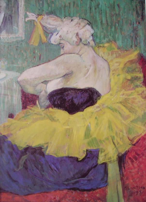 Toulouse-Lautrec: Cha-U-Kao in camerino