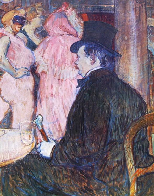 Toulouse-Lautrec: Maxime Detomas al ballo dell'Opera
