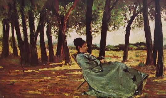 Fattori - La signora Martelli a Castiglioncello