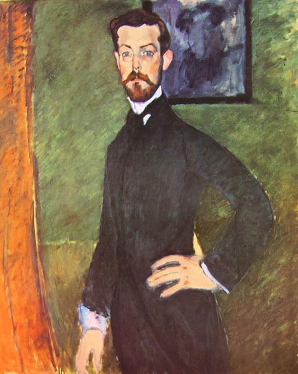 Amedeo Modigliani: Paul Alexandre su fondo verde