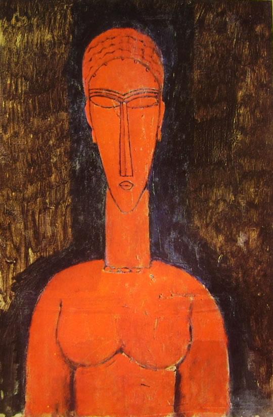 Amedeo Modigliani: Busto rosso