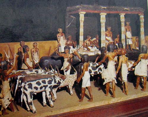 Censimento della mandria, in legno, XI dinastia, Museo Egizio del Cairo