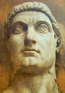 Testa della colossale statua della Basilica di Massenzio, Museo Capitolino, Roma