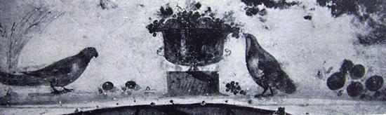 Decorazione del frontale di un arcosolio (Catacombe di San Sebastiano, Roma)