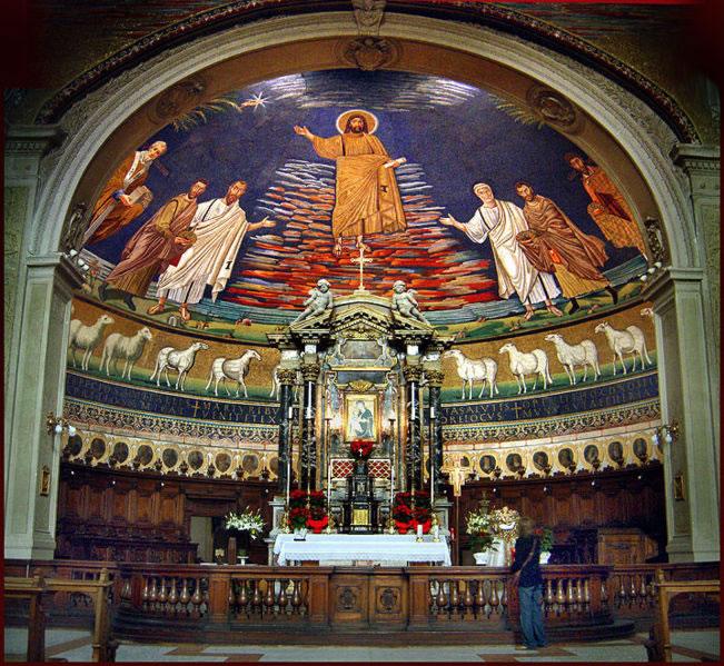 Mosaico absidale nella Basilica dei Santi Cosma e Damiano