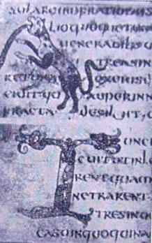 Iniziali miniate (codice B, 159 sup: Dialoghi di San Gregorio)