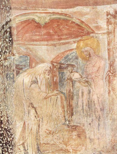 Affreschi di Castelseprio: Presentazione al tempio