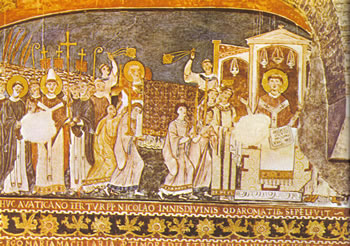 Basilica superiore di San Clemente: San Cirillo e San Metodio portano a Roma il corpo di San Clemente