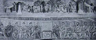 Arco Trionfale, Abbazia di Grottaferrata: La Trinità fra gli angeli ed i profeti