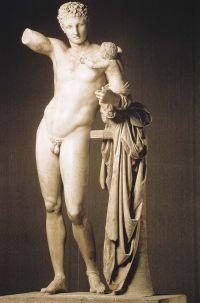 Hermes con Dioniso fanciullo di Prassitele
