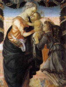 Madonna col Bambino e un angelo, 1465-1467, tempera su tavola