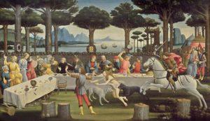 Botticelli - Storie di nastagio degli Onesti - Il banchetto nel bosco
