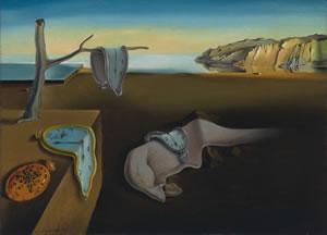 Salvator Dalì: La persistència de la memòria), olio su tela, 24 × 33 cm, anno 1931, Museum of Modern Art di New York.
