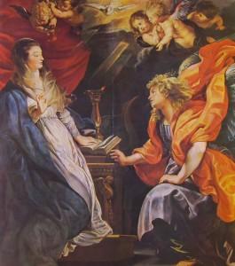 L'annunciazione, cm. 224 x 200, custodito a Vienna al Kunsthistorisches Museum