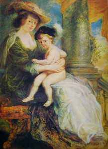 Rubens: Helene Fourment col figlio