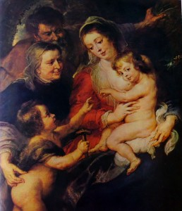 Seicento fiammingo - Rubens: La Sacra Famiglia