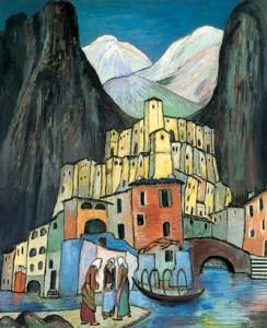 Marianne Werefkin: La città dolente, anno 1930 circa, Fondazione Comunale, d'Arte Moderna, Ascona.