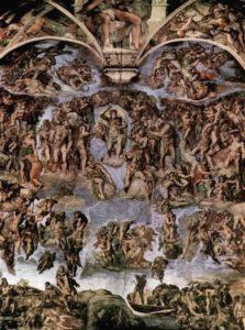 Michelangelo: Giudizio Universale prima del restauro, Cappella Sistina