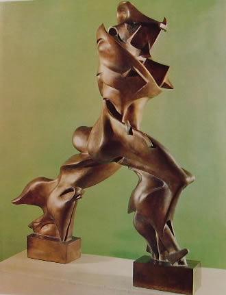 Umberto Boccioni: forme uniche della continuità nello spazio prospettiva n° 2