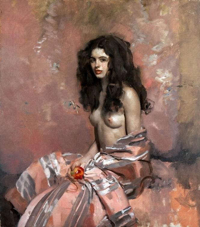 Alciati Ambrogio Antonio - la modella con la mela