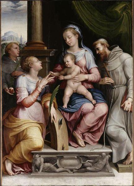 Orazio Alfani: Sposalizio mistico di Santa Caterina