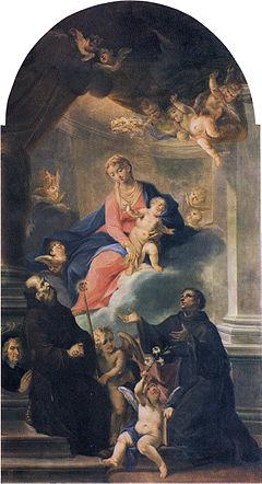 , Madonna col Bambino tra i santi Francesco e Antonio da Padova, chiesa di San Carlo, Brescia.