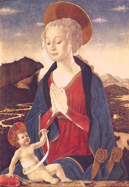 AlessoBaldovinetti: Madonna col Bambino