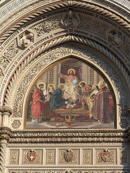 Mosaico del portale centrale del Duomo di Firenze