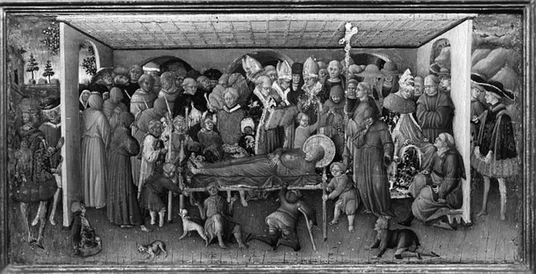 Bartolomèo di Tommaso: Il funerale di San Francesco di Assisi