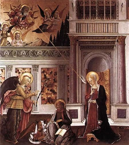 Benedetto Bonfigli: Annunciazione, Galleria Nazionale dell'Umbria