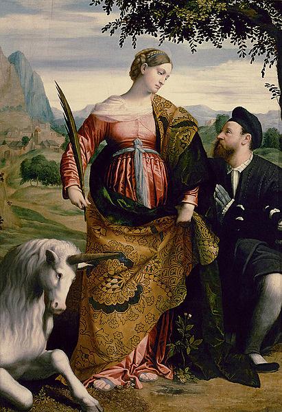 Santa Giustina di Padova e un donatore