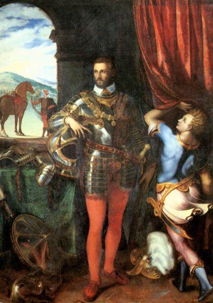 Giulio Campi - Ritratto del duca Ottavio Farnese