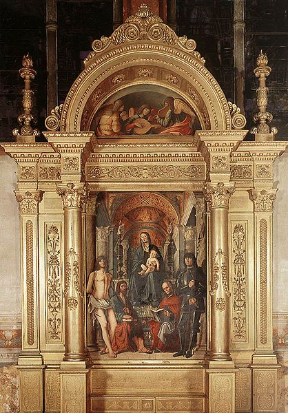Lorenzo costa: L'altare della Madonna in trono