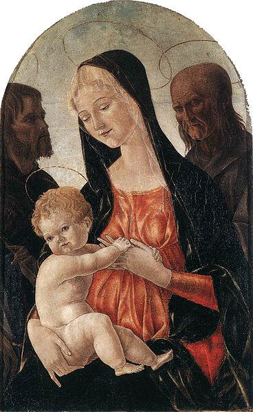 Madonna col Bambino e due santi