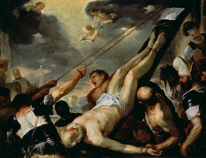 Luca Giordano - Crocifissione di san Pietro