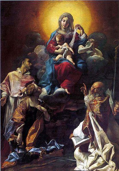 """""""Vergine col Bambino in gloria tra i santi"""""""