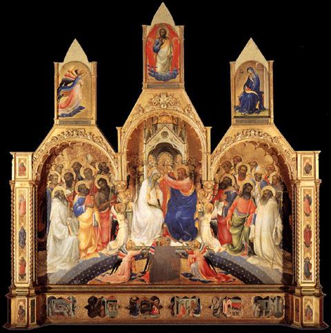 Lorenzo Monaco: Incoronazione della Vergine