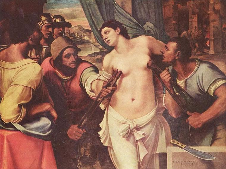 Sebastiano del Piombo: Martirio di sant'Agata, 1520, Palazzo Pitti, Firenze.