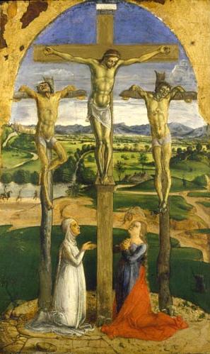 Crocifissione con Santa Maria Maddalena e una devota