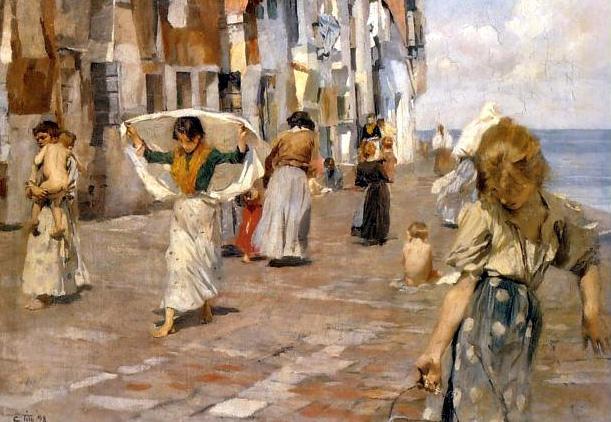 Ettore Tito: Chioggia (1898), Museo d'Orsay, Parigi.