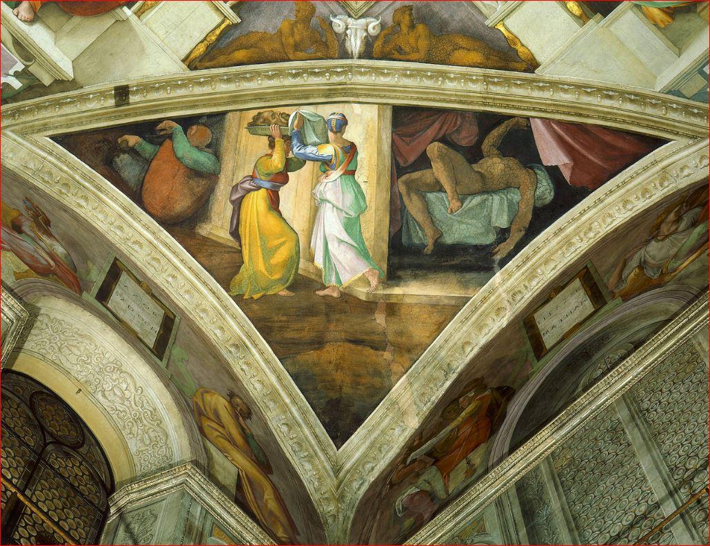 Michelangelo Buonarroti: Giuditta e Oloferne - Volta della Cappella Sistina, anno 1508-1509