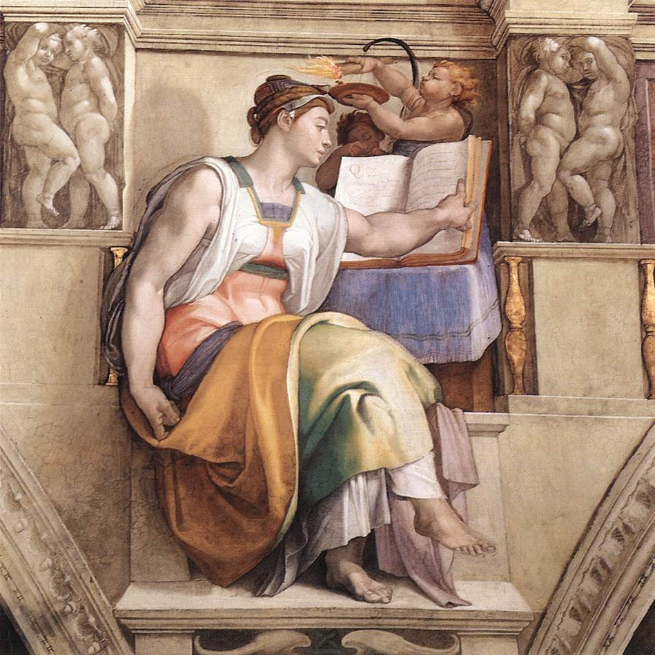 Michelangelo: la sibilla Eritrea nella volta della Cappella Sistina