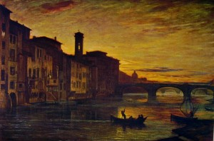 Antonio Fontanesi: L'Arno a Santa Trinità, Galleria d'arte Moderna, Firenze