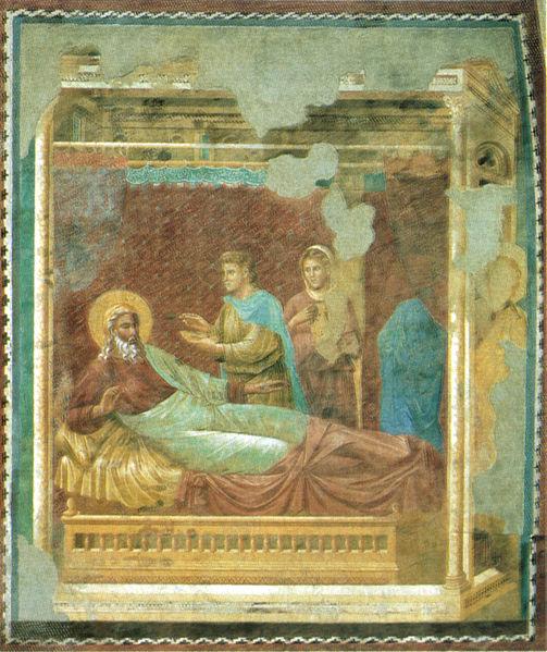 Maestro Romano (Maestro d'Isacco). nella raffigurazione: Isacco respinge Esaù