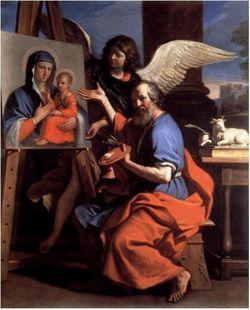 S. Luca dipinge la Vergine
