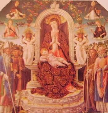 Madonna col bambino in trono fra i santi: Bartolomeo Vivarini