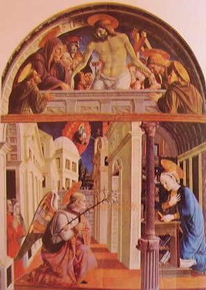 Annunciazione e deposizione: Gerolamo di Giovanni Pinacoteca civica di Camerino