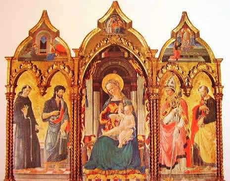 Madonna col bambino fra i santi: Giovanni di Francesco