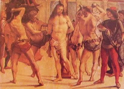 Flagellazione: Luca Signorelli, 1480, Pinacoteca di Brera Milano