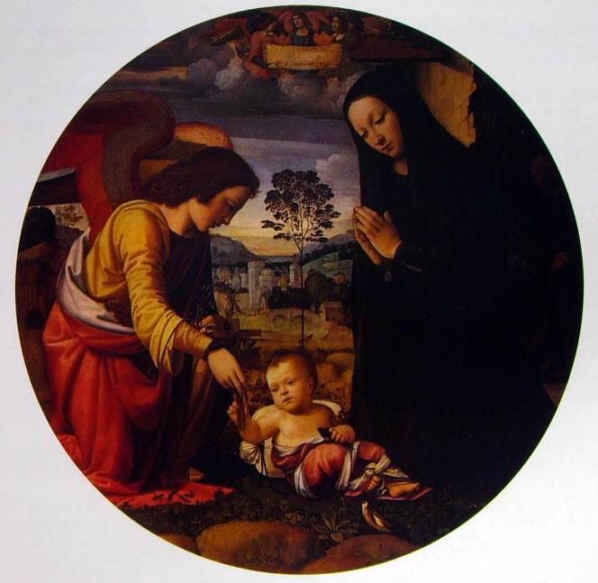 Mariotto Albertinelli: Adorazione del Bambino (Palazzo Pitti)